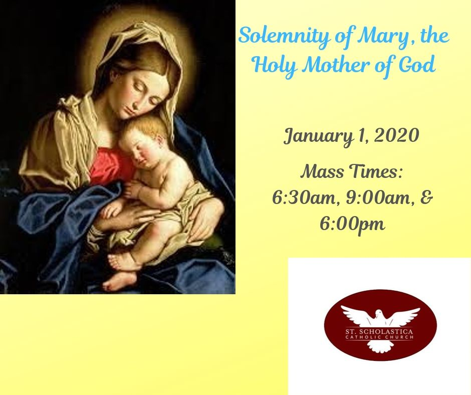 St Scholastica Erie Mary Holy Mother Of God Mass January 1 2020