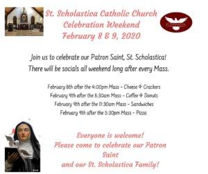 St. Scholastica Celebration Weekend!