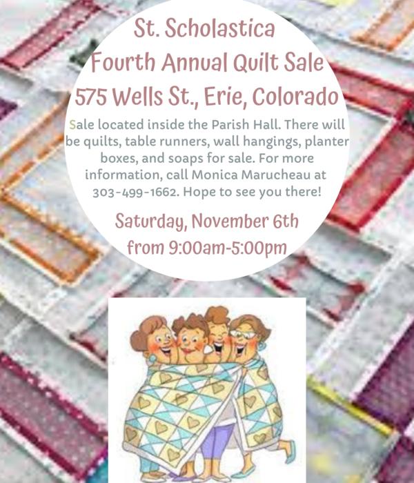 4th Annual Quilt Sale (Nov. 6)